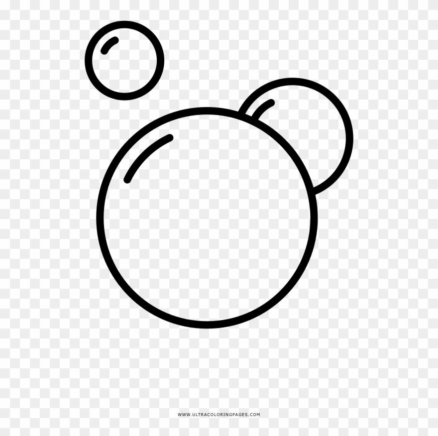 Bubble Bath Coloring Page - Bubbles Clipart Svg - Png ...