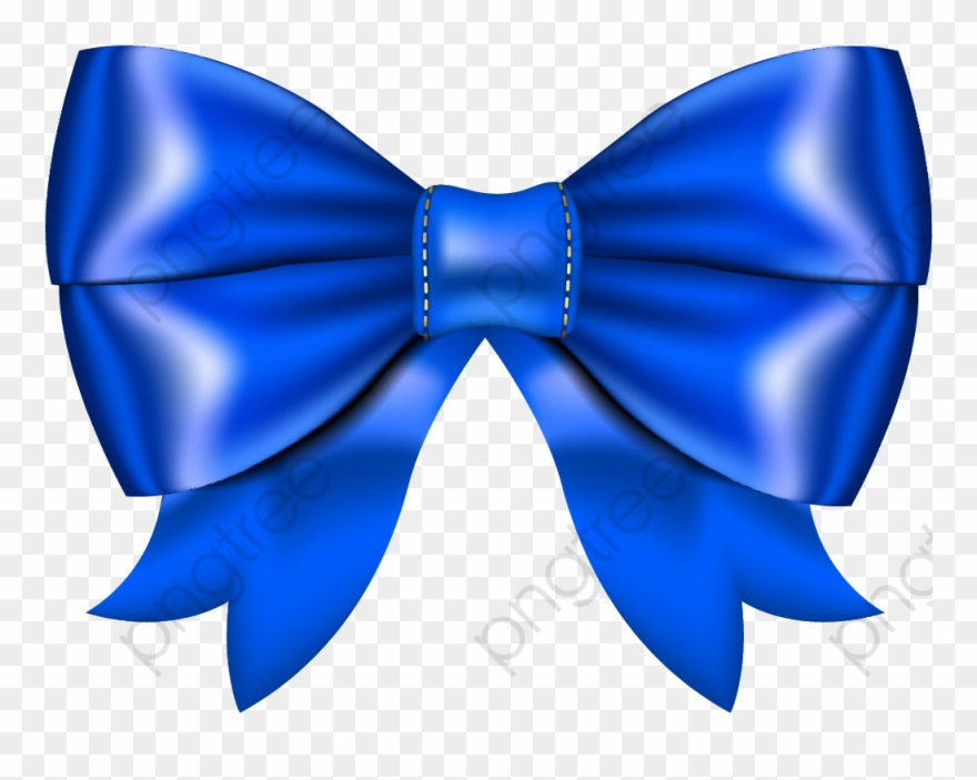 Bow blue. Pretty tie clipart png