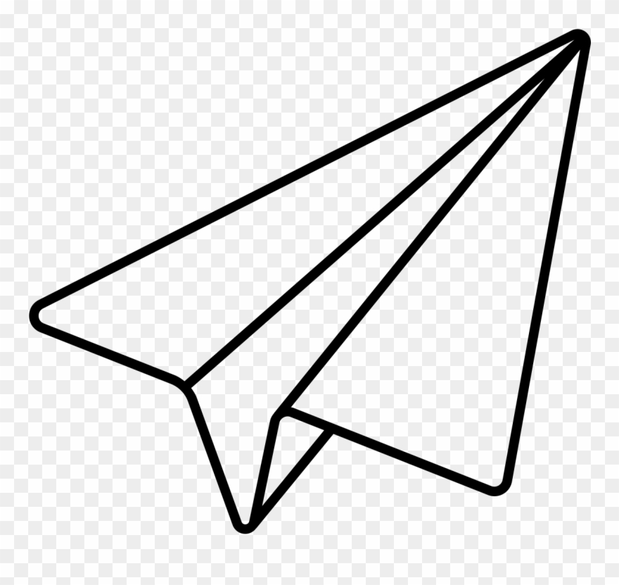 Noun Paper Plane Paper Airplane Line Drawing Clipart 4871789