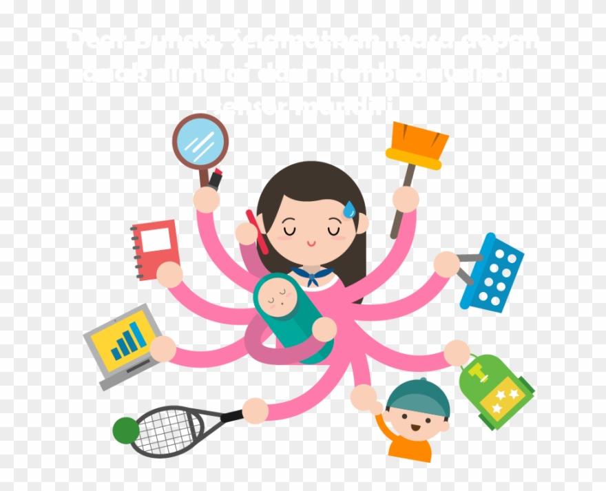 Admirable Woman Mother Housewife Meniru Child Drawing Working Interior Design Ideas Clesiryabchikinfo