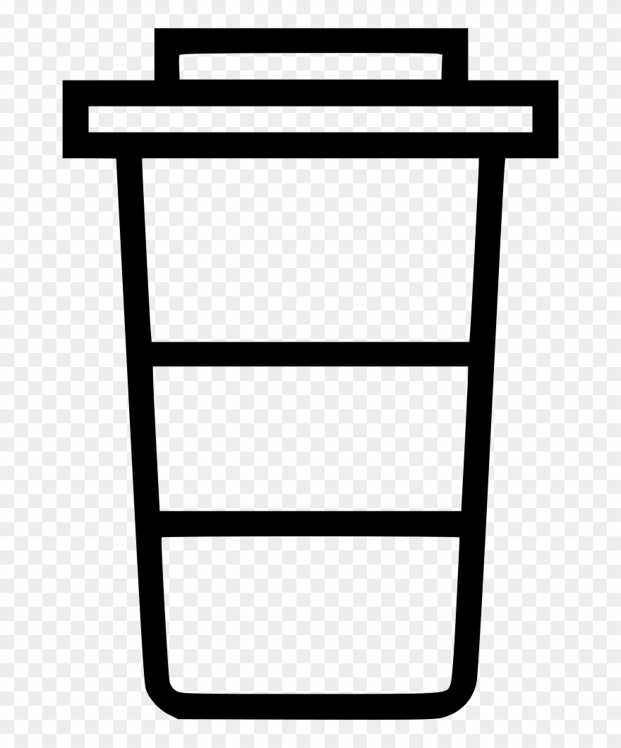 Coffee cup outline. Clipart togo png download