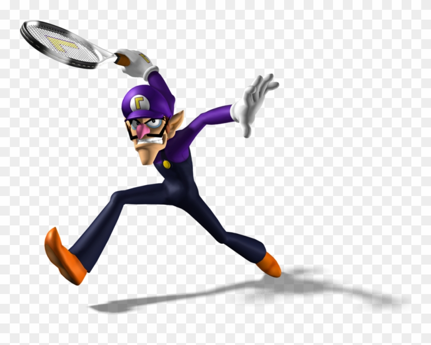 Waluigi high resolution. Mpt artwork tennis clipart