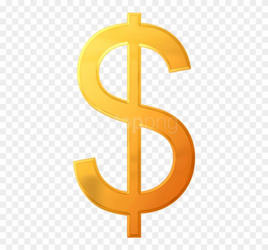 Dollar sign orange. Download png images background