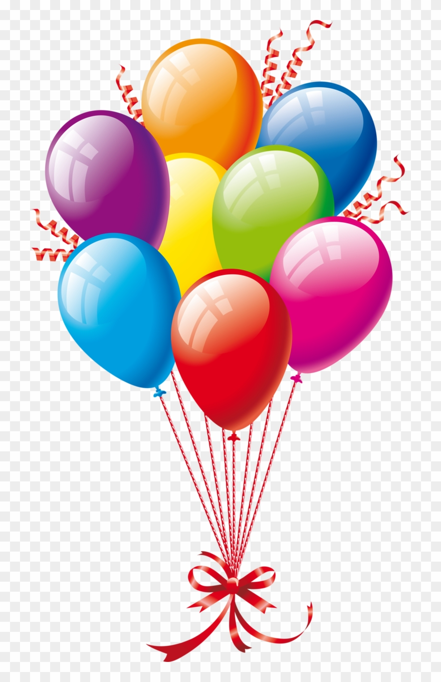 ○••°‿✿⁀balloons‿✿⁀°••○ - Happy Birthday Png Background Clipart