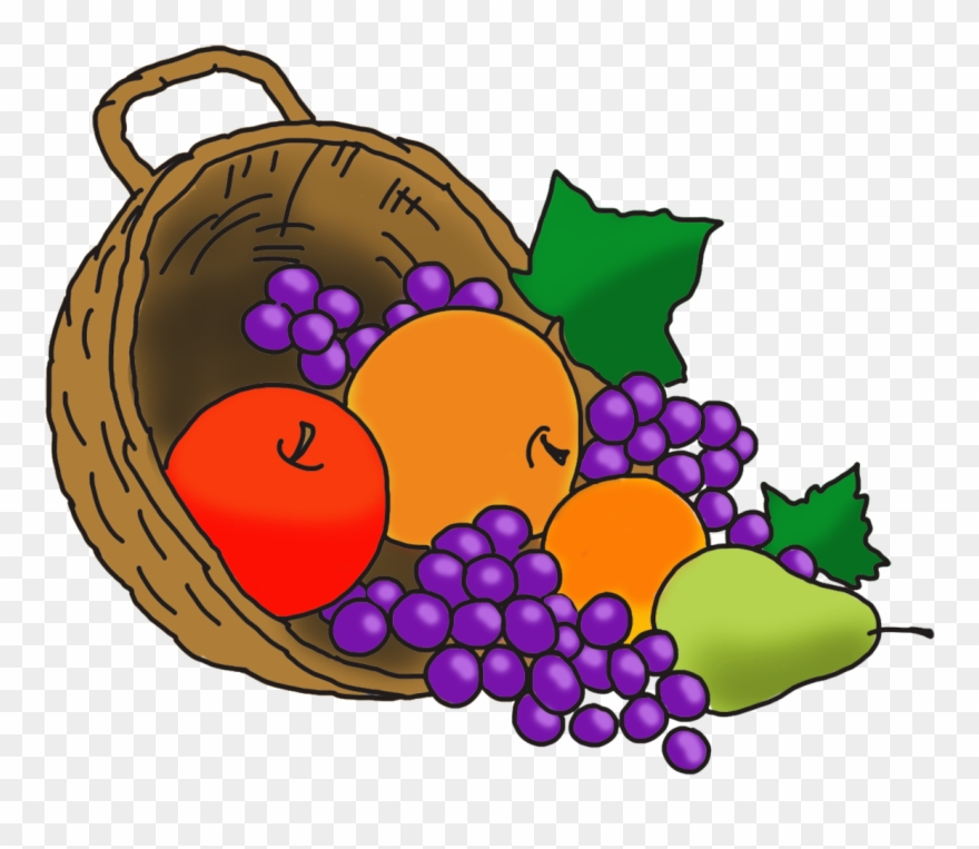 Thanksgiving Tremendous Freesgiving Baskets Basket Fruit Cornucopia Clipart Png Download 492180 Pinclipart