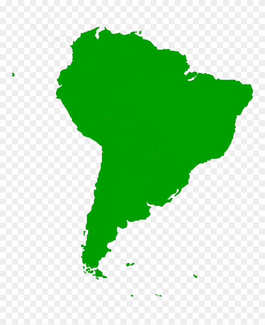 South America Map Clipart - Just South America Map - Png Download ...