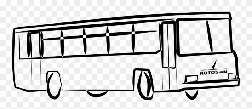 картинка автобус с флажками едет по улице проектирования