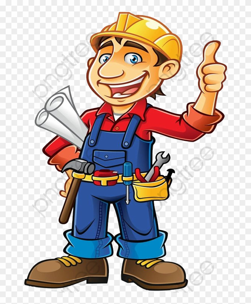 Cartoon Builder Commercial - Construction Worker Clipart Png Transparent Png