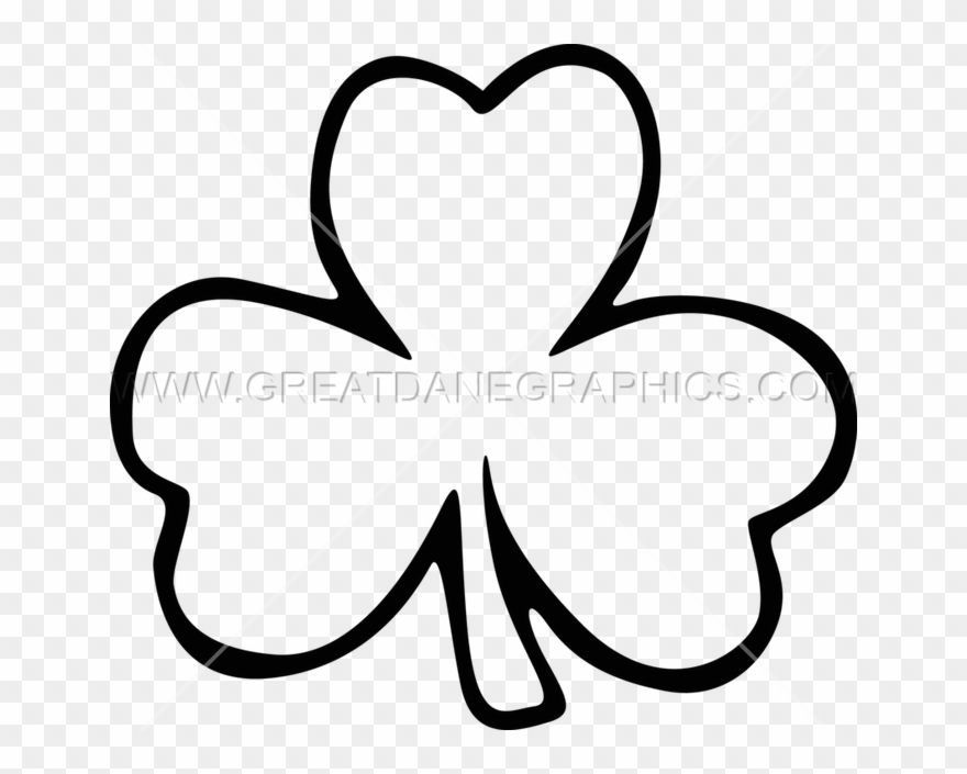 Leaf Clipart Black And White Zoshwiki - Printable Shamrock ...