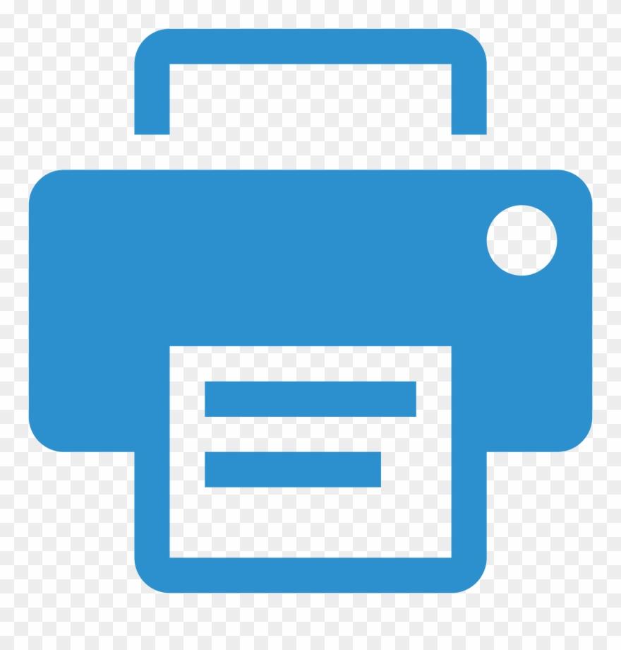 Blue Icon Printer Png - Blue Printer Icon Transparent Clipart (#4927615) - PinClipart