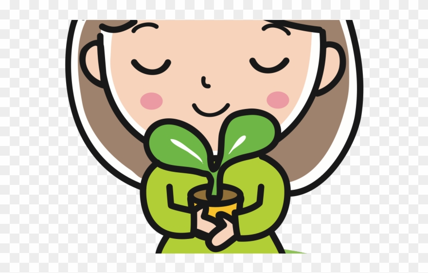 Plant happy. Clipart girl st patrick