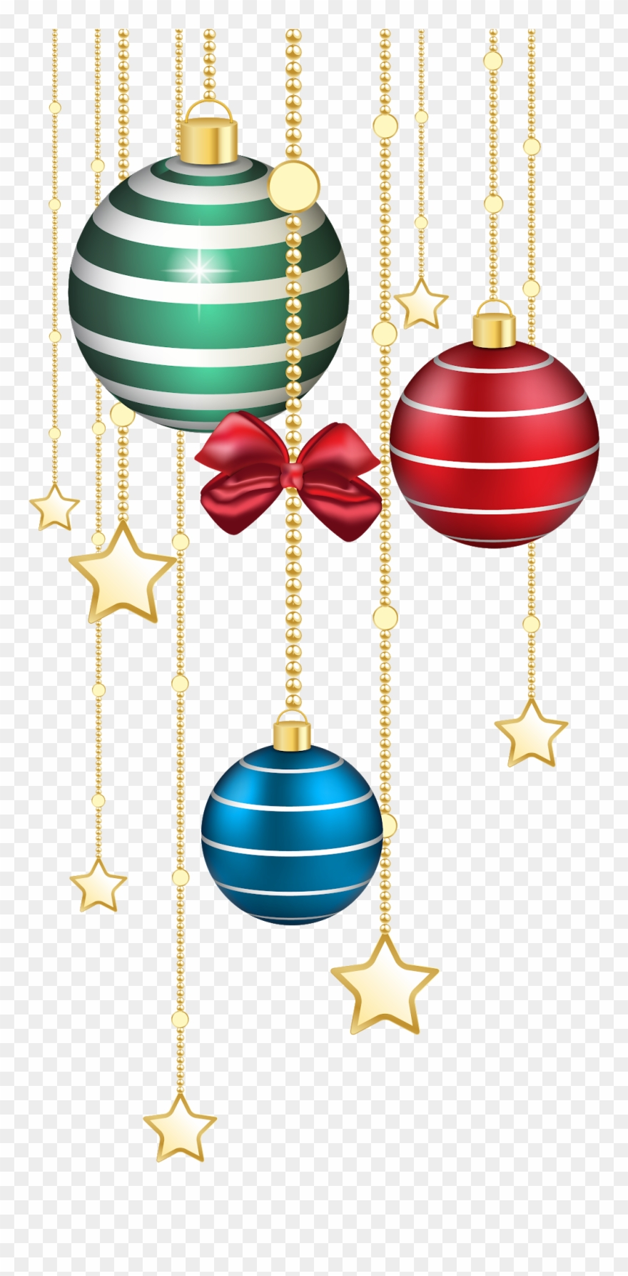 Christmas Clipart, Christmas Balls, Merry Christmas, - Christmas Decorations Transparent Background - Png