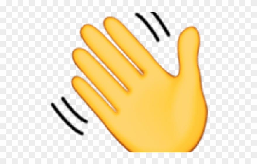 Hand Emoji Clipart Hand Wave - Waving Hand Emoji No