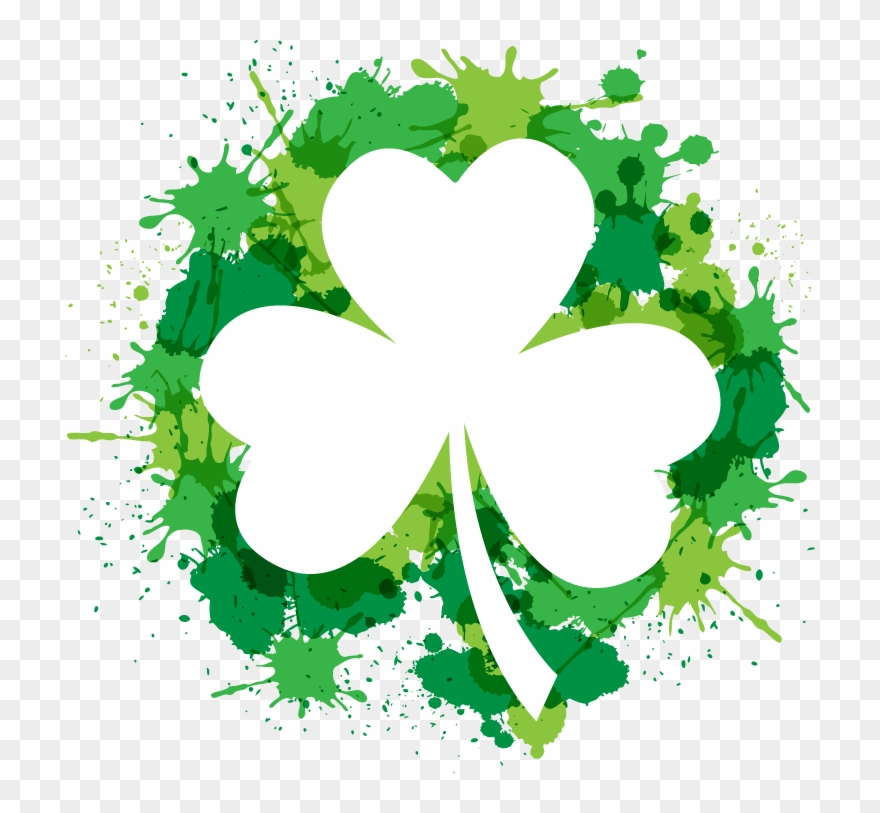 image regarding Free Printable Clipart for St Patrick's Day identified as Shamrock Saint Patricks Working day - Cost-free Printable 3 Leaf Clover