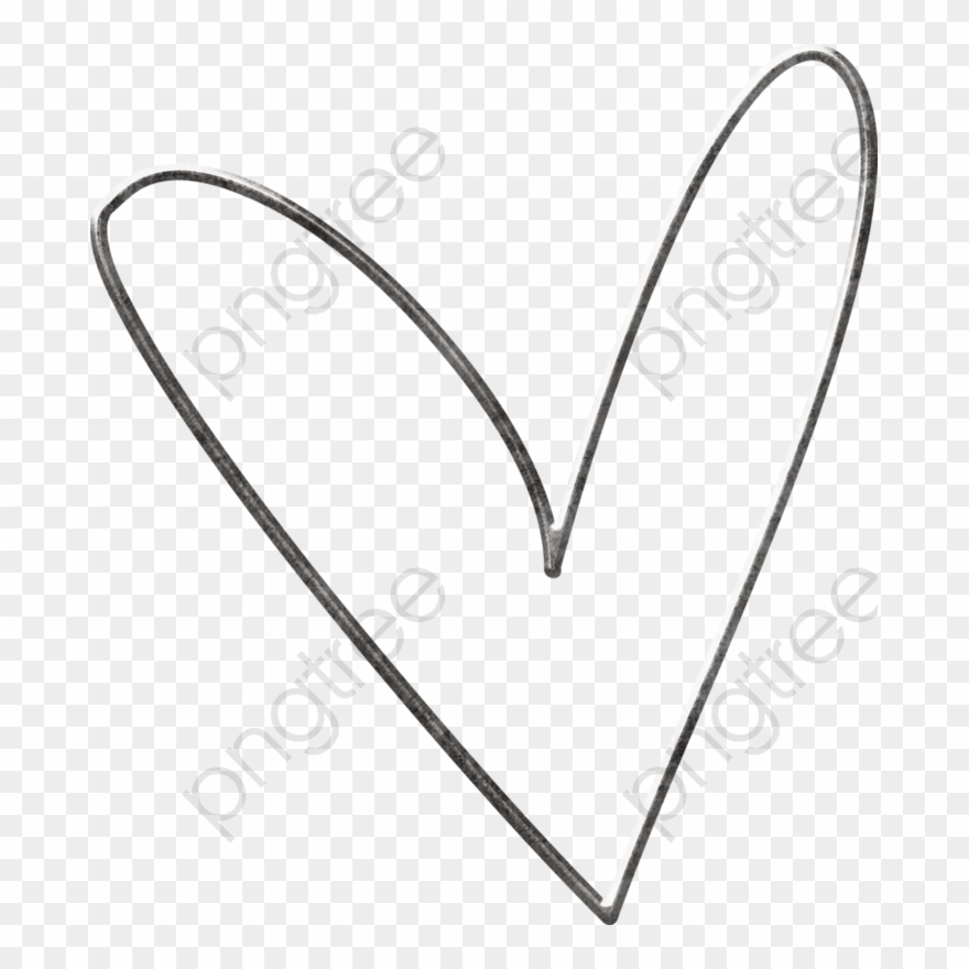 Heart simple. Black and white clipart