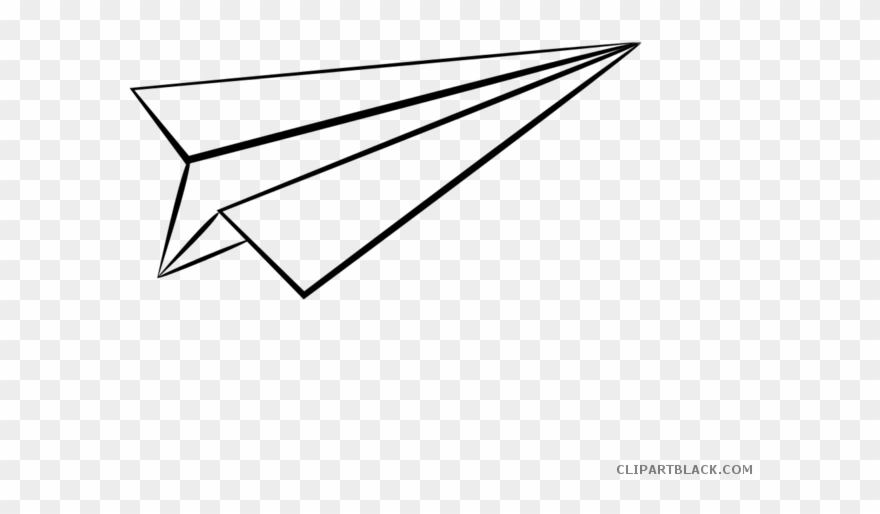 Paper Airplane Transportation Free Black White Clipart Paper