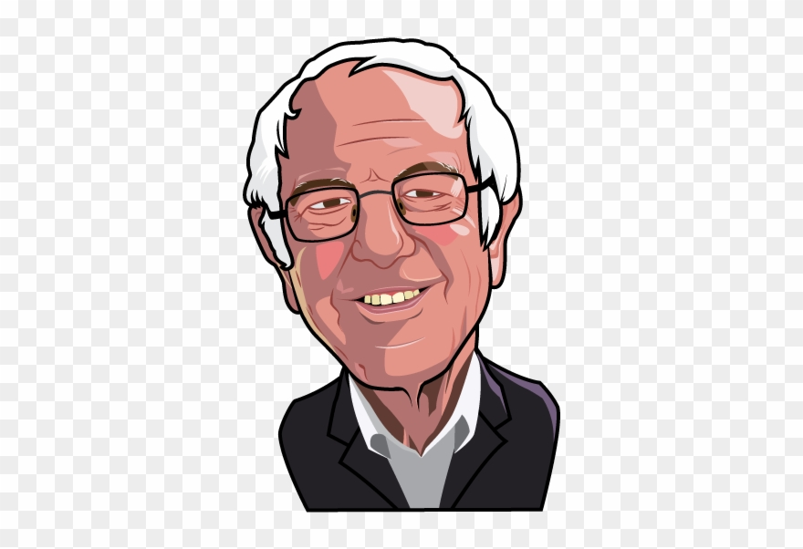 Bernie Sanders Illustrated Bernie Sanders No Background Clipart 4944538 Pinclipart