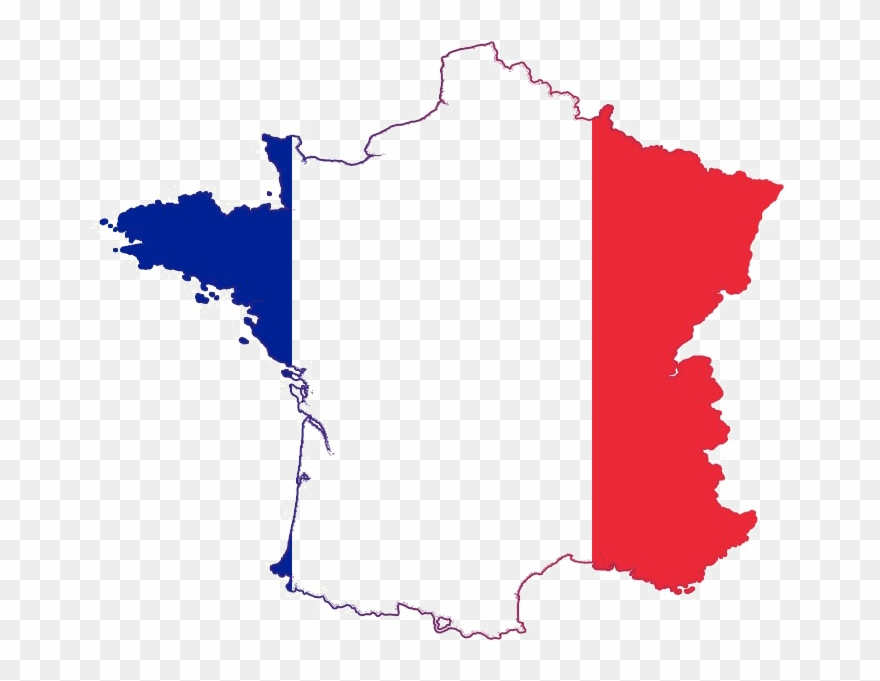 France Png Image France Map Flag Color Clipart 4967354 Pinclipart