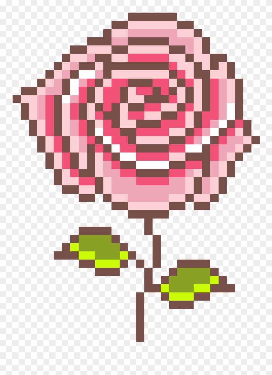 Rose Pixel Art Mothers Day Pixel Art Clipart 4967779