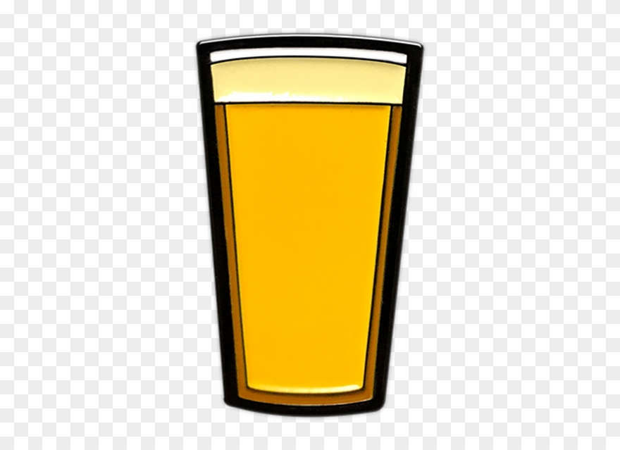 Pilsner Beer Pint Enamel Pin By Seventh - Pint Glass Clipart