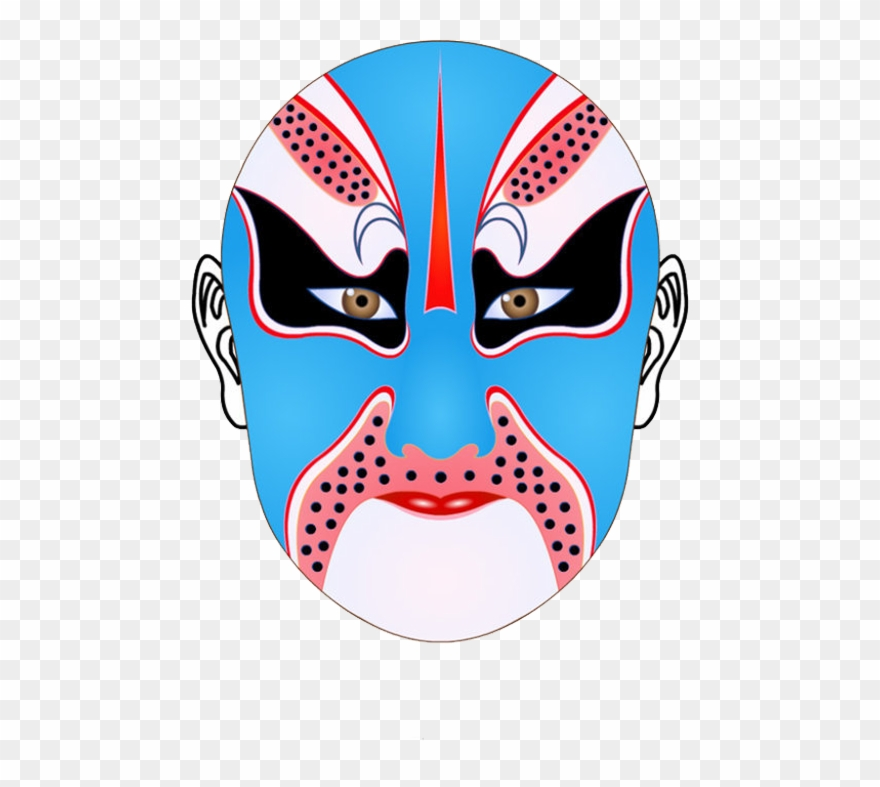 Chinese Opera Mask Coloring Page | Templates at ... | 787x880