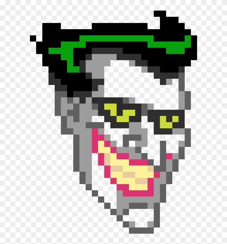 Joker Pixel Art Minecraft Png Download Pixel Art Minecraft Joker Head Clipart 4984554 Pinclipart