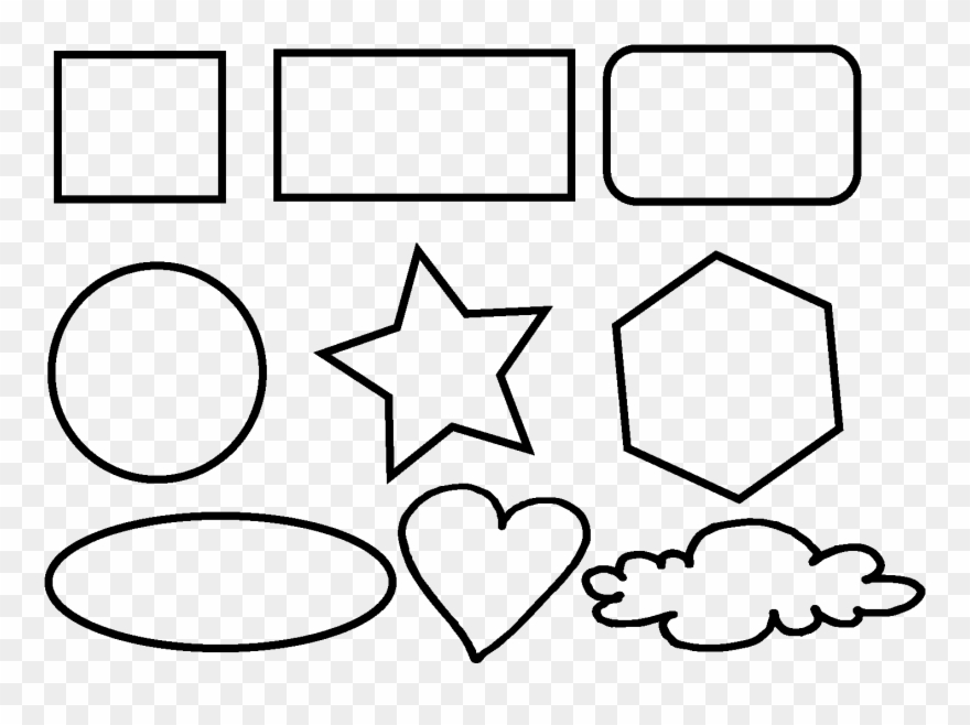 Basic Shapes Png - Shapes Doodles Png Clipart (#4991926) - PinClipart