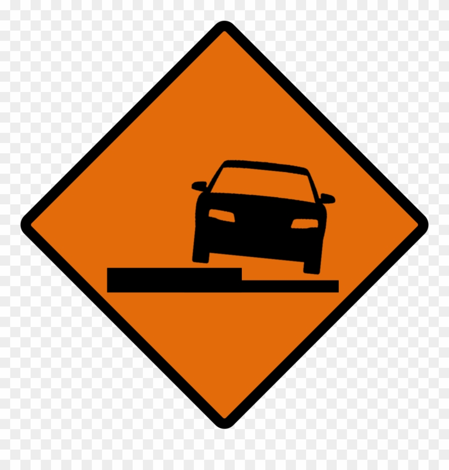 Indonesian Road Sign Temp 2b - Uneven Road Sign Yellow Sign Clipart