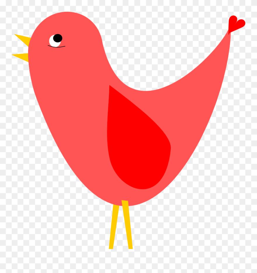free birds clip art - cute red bird clipart - png download (#4998438) -  pinclipart  pinclipart.
