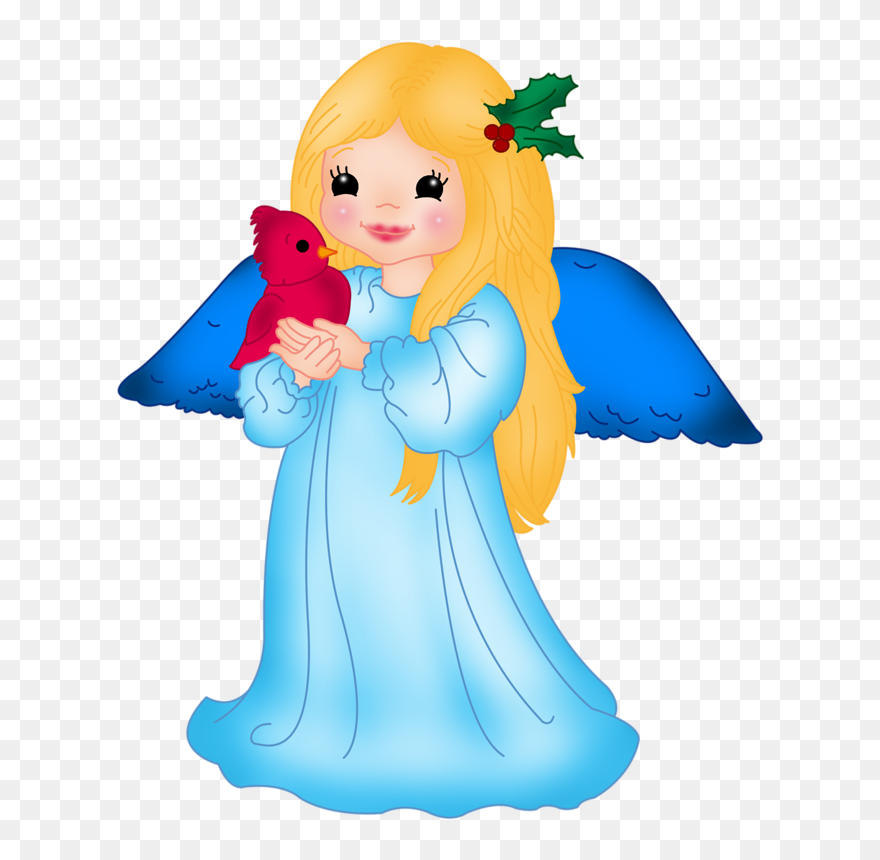 Blue Little Angel With Bird Png Clipart Angel Clipart Transparent Png Full Size Clipart 4998790 Pinclipart