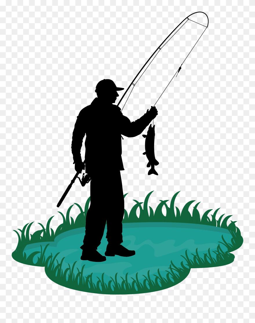 Fishing Rod Cartoon Fisherman Clip Art Man Fishing Pole Cartoon Png Download 4998952 Pinclipart