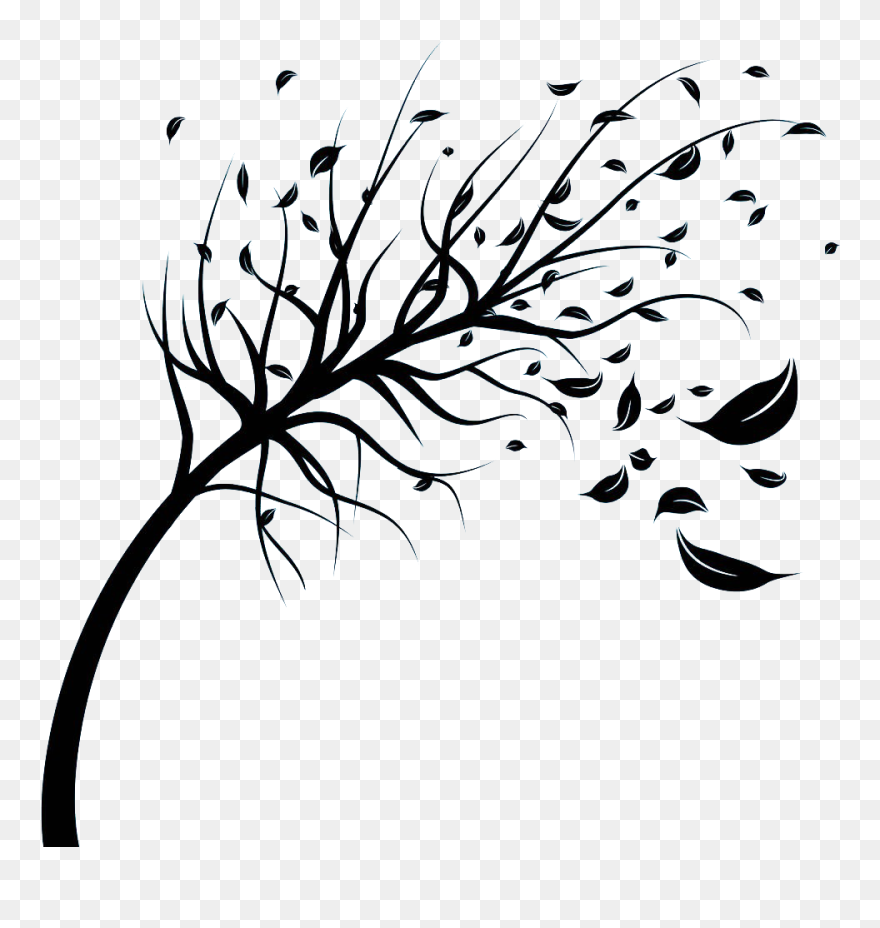 Wind Stock Photography Royalty Free Tree Clip Art Wind Blowing Tree Clip Art Png Download 4999171 Pinclipart