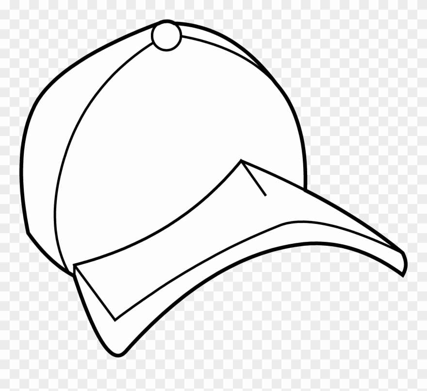 Baseball Hat Baseball Cap Coloring Page Free Clip Art Baseball Cap