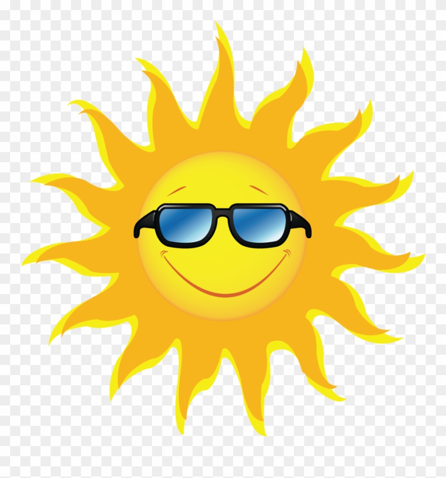 Sunshine sunglasses. Sun clip art free