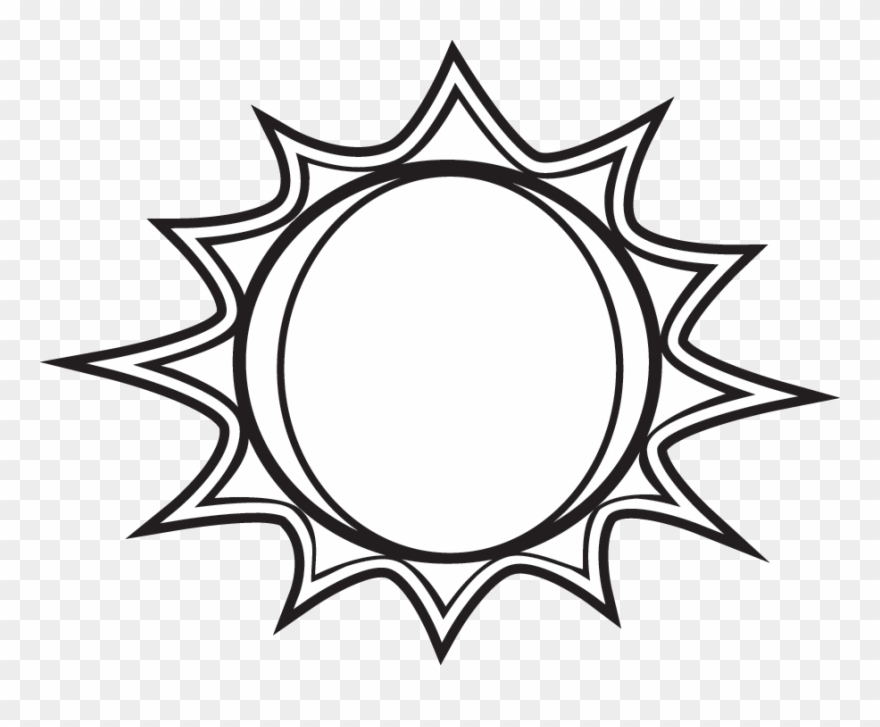 Sun Black And White Black And White Sun Clipart Free Sun Png