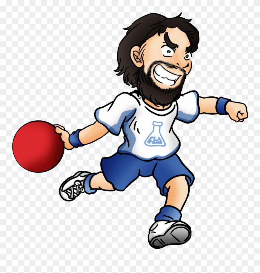 Dodgeball Clip Cartoon Cartoon Person Throwing A Dodgeball Png