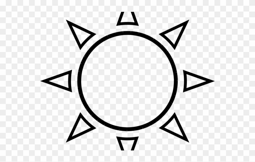 Black And White Sun Clipart Sun Outline Png Download 52170