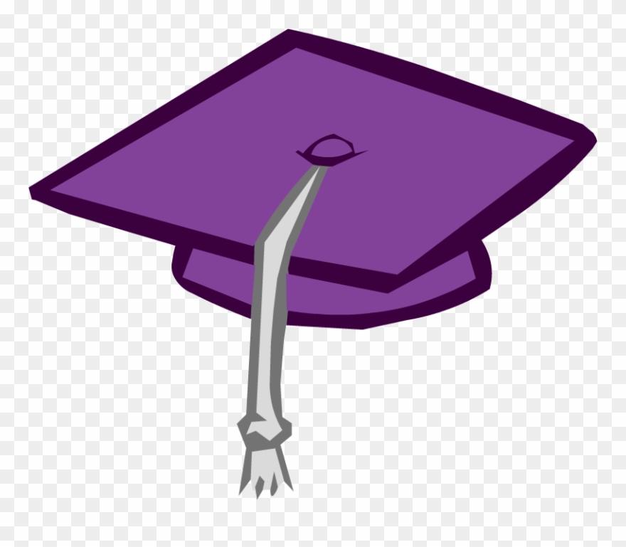 Purple graduation. Clipart transparent background blue