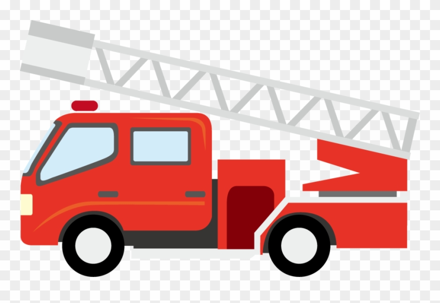 Broom Clip Wall Mounted Cartoon Fire Truck Png Transparent Png 52477 Pinclipart