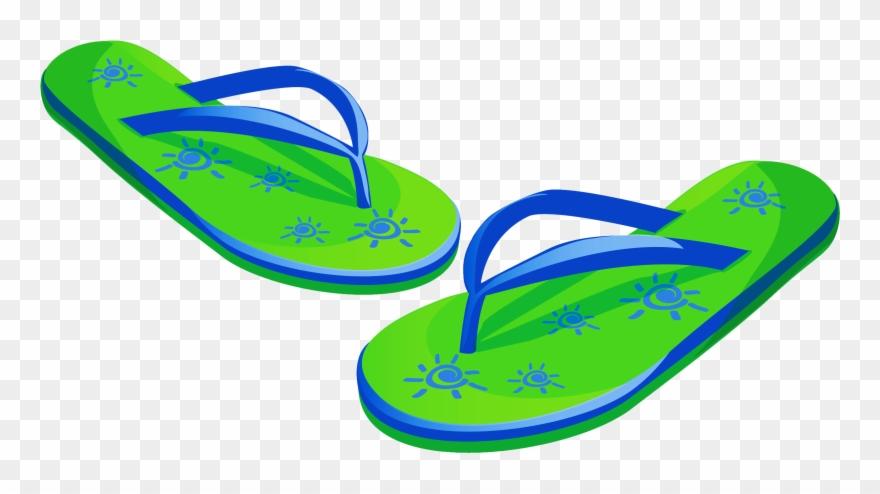 Transparent Green Beach Flip Flops Png