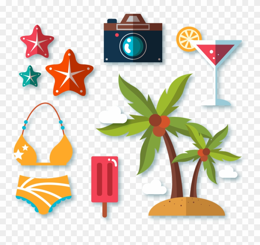Banner Royalty Free Bikini Clipart Coconut - Beach - Png Download