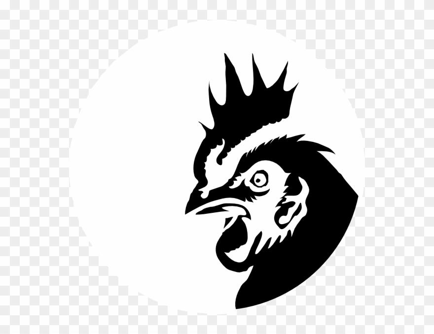 Chicken Profile Black Silhouette Clip Art - Chicken Head ... (880 x 678 Pixel)