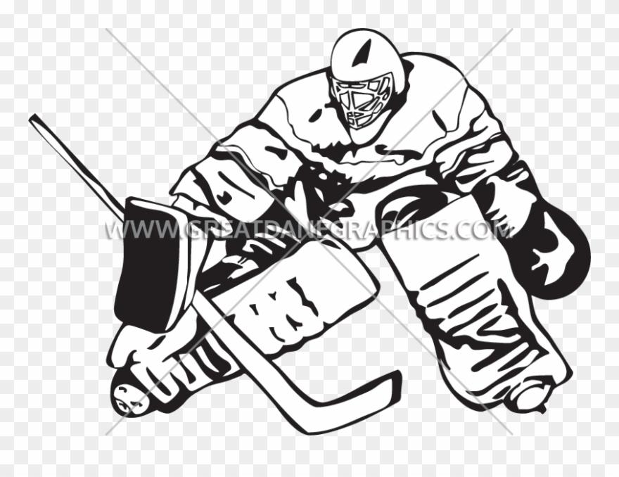 Goalie Block Production Ready Hockey Player Transparent Background