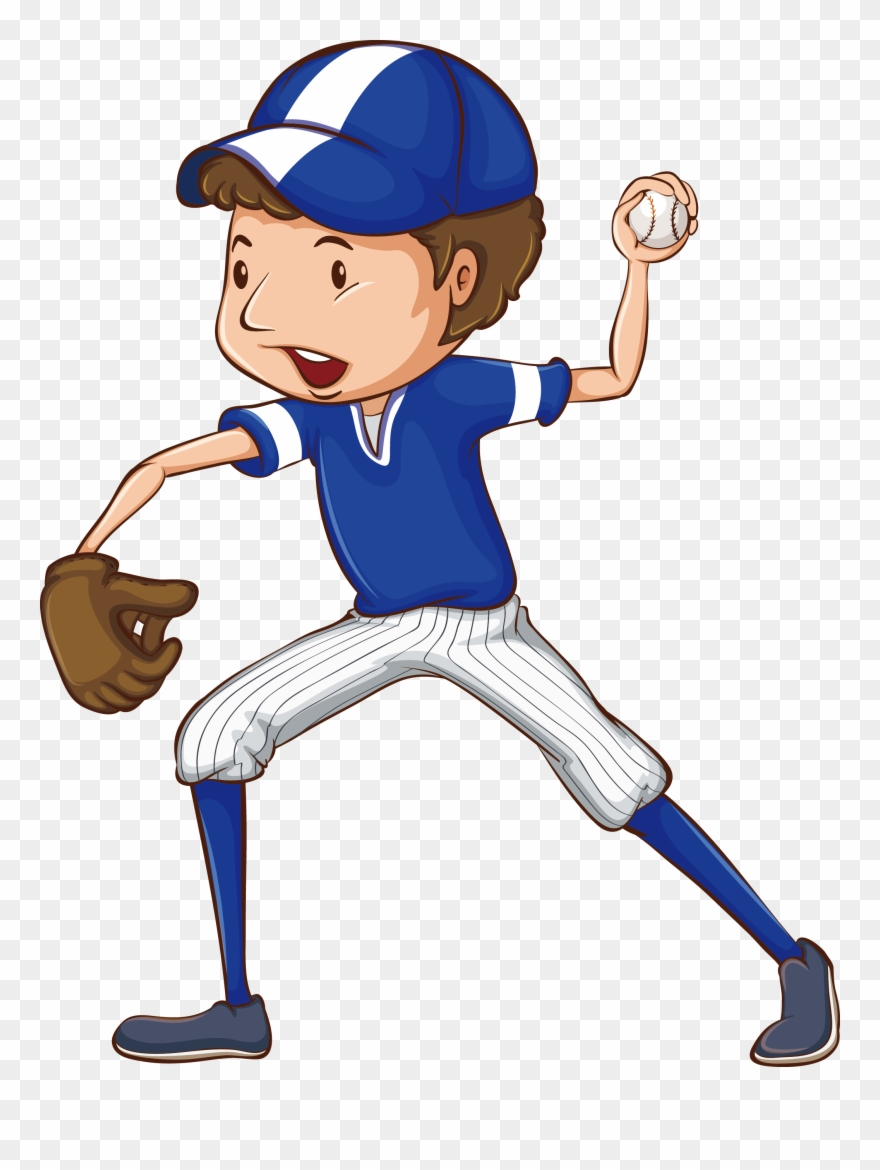 Baseball player. Clipart free library clip