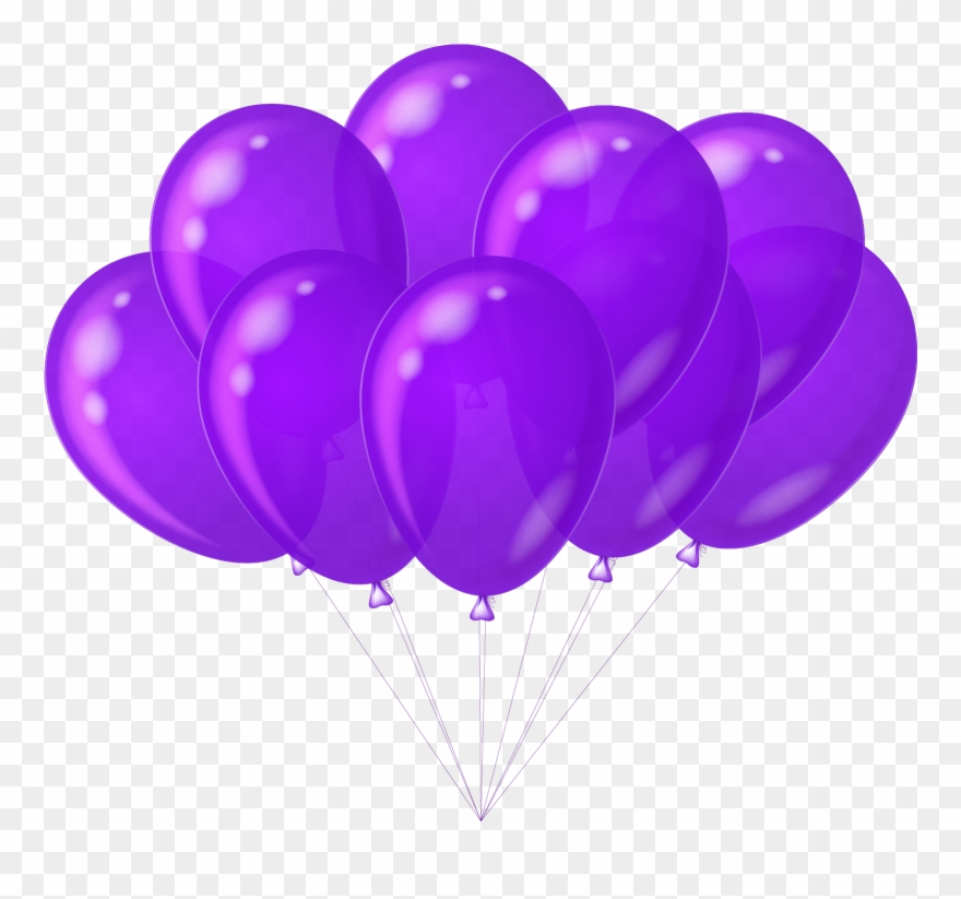 Balloons violet. Balloon clipart purple heart