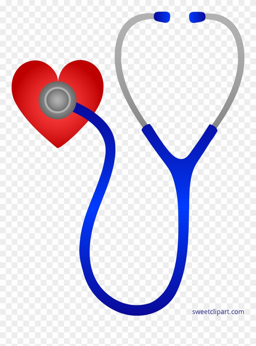 Stethoscope doctor. Doctors with heart clip