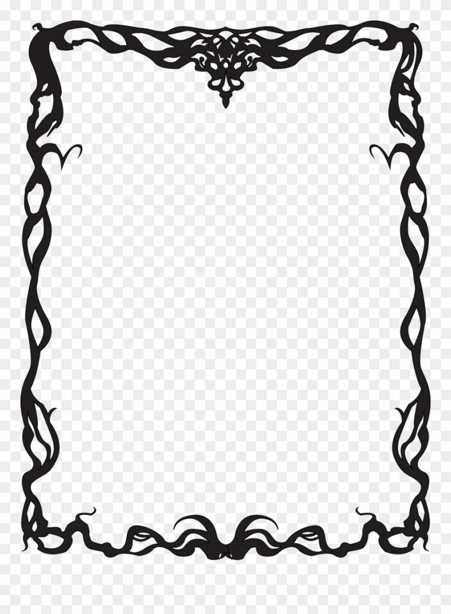 Art Nouveau Border Clip Art Images Art Deco Border Png Transparent Png 59975 Pinclipart