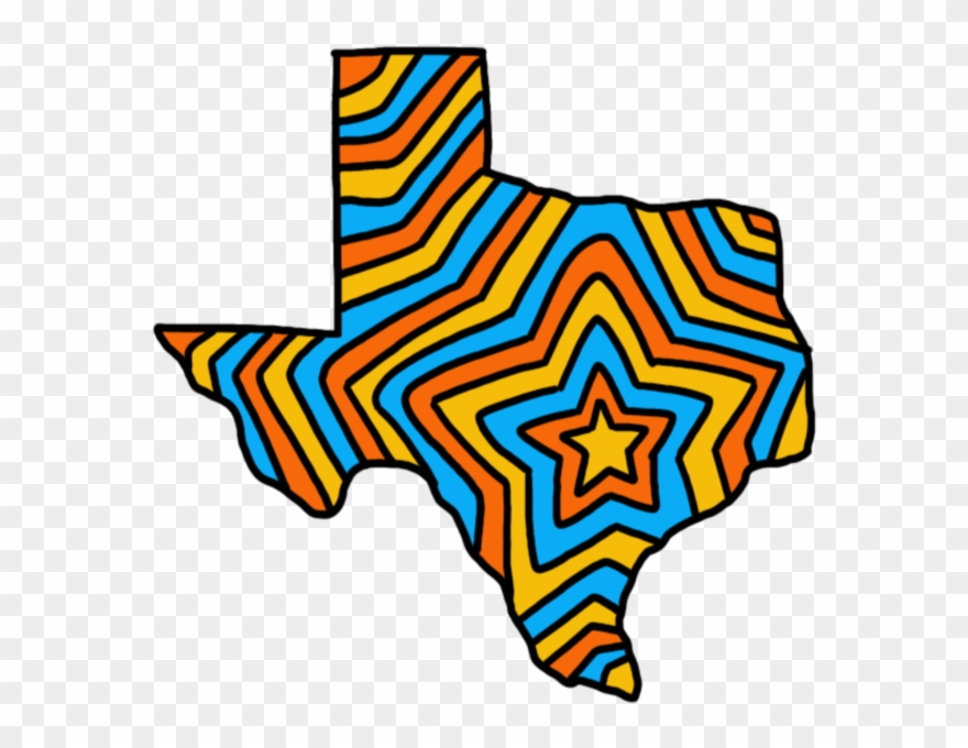 Houston Texas Map Clipart The State Of Texas Venture Capital   Houston Heart On Texas Map