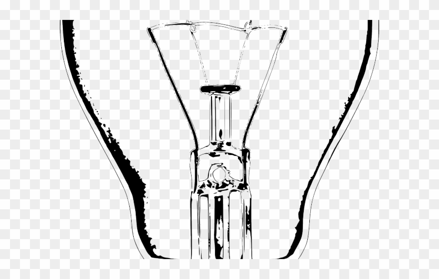 Lamps Clipart Line Drawing Light Bulb Black And White Png