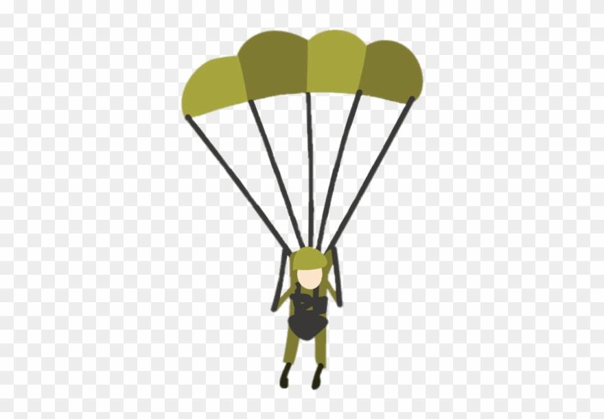 Military Parachute Clipart - Military Paratrooper Clip Art